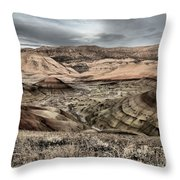 Faded Painted Hills Throw Pillow