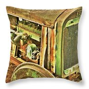 Fageol Tractor 2 Throw Pillow
