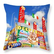 Fair Food Throw Pillow