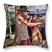 Faire Performers Throw Pillow