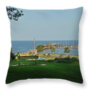 Fairhope Pier 2012 Throw Pillow