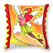 Fairies Litsten With The Heart  Throw Pillow