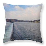 Fairmount Dam And Boathouse Row - Philadelphia Throw Pillow