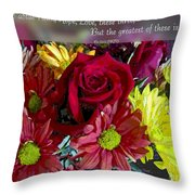 Faith Hope Love II Throw Pillow