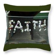 Faith Knows No Boundaries  Throw Pillow