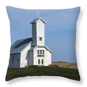 Faith On The Prairie Throw Pillow