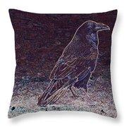 Faithful Raven Throw Pillow