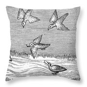 Falconry, 14th Century Throw Pillow