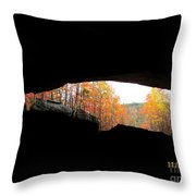 Fall At The Cave Throw Pillow