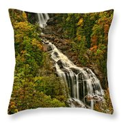 Fall At Whitewater Falls  Throw Pillow