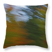 Fall Blur Throw Pillow