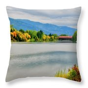 Fall Color At Sand Creek Throw Pillow
