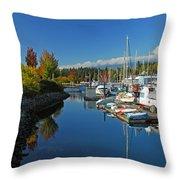 Fall Colors At English Bay Throw Pillow