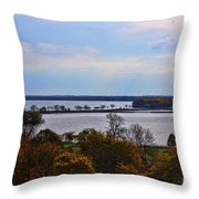 Fall Colors In Madison Throw Pillow