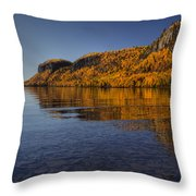 Fall Colours In The Squaw Bay II Throw Pillow