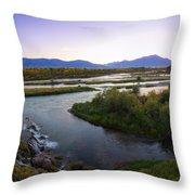 Fall Creek Panorama Throw Pillow
