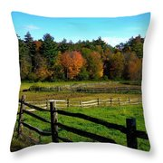 Fall Field - Greeting Card Throw Pillow