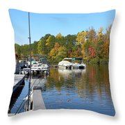 Fall Fishing Break Throw Pillow