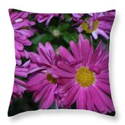Fall Flowers In Bloom Throw Pillow