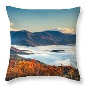 Fall Fog 2 Throw Pillow