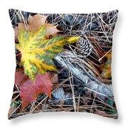 Fall Forest Floor Throw Pillow
