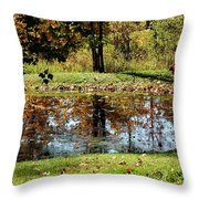 Fall Frogging Got One Throw Pillow