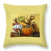Fall Gatherings Throw Pillow