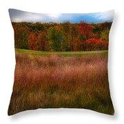 Fall Golf Throw Pillow