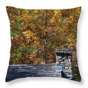Fall House In Carolina Throw Pillow