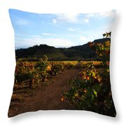 Fall In A Sonoma Vineyard Throw Pillow