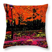 Fall In Red Throw Pillow