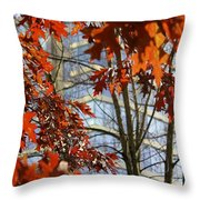 Fall In The City 1 Throw Pillow
