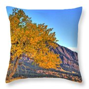 Fall In The Flatirons Throw Pillow
