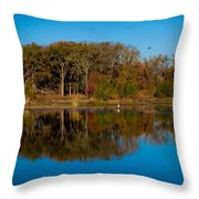 Fall Lake 4 Throw Pillow