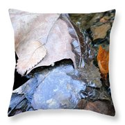 Fall Leaf Abstract Throw Pillow