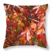 Fall Leaves - Digital Art Throw Pillow