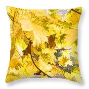 Fall Leaves Abstract Throw Pillow