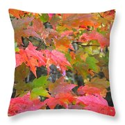 Fall Leaves Filtered Throw Pillow