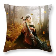 Fall Melody Throw Pillow
