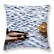 Fall Millards Swiming Throw Pillow