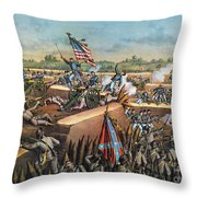 Fall Of Petersburg, 1865 Throw Pillow by Granger