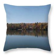 Fall On Beeds Lake Throw Pillow