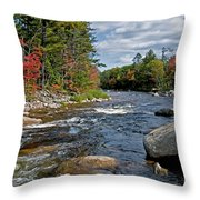 Fall On Swift River Throw Pillow