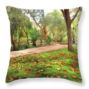 Fall Park Throw Pillow