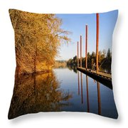 Fall Pier Throw Pillow