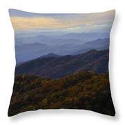 Fall Sunset On The Blue Ridge Throw Pillow