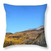Fall Talkeetna Mountains Throw Pillow