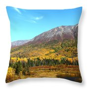 Fall Valley Throw Pillow