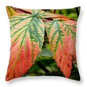 Fall Veins Throw Pillow
