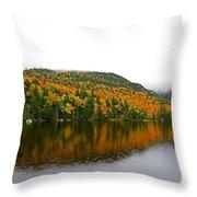 Fall View Of Saco Lake And Elephants Head Throw Pillow